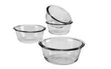Anchor Hocking 4 pc Custard Cup Set - Disposables-Gradys