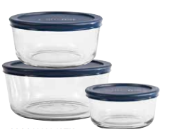 Anchor Hocking 6 pc Food Storage Container Set - Multiple Sizes - Disposables-Gradys