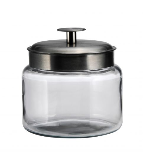Anchor Hocking 95539AHG17 Brushed Metal Lid 48 Ounce Montana Jar - Disposables-Gradys
