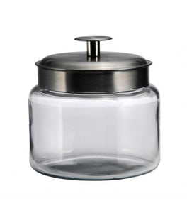Anchor Hocking 95540AHG17 Brushed Metal Lid 64 Ounce Montana Jar - Disposables-Gradys