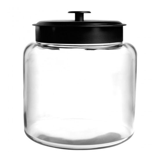 Anchor Hocking 96710AHG17 Black 64 Ounce Montana Jar - Disposables-Gradys