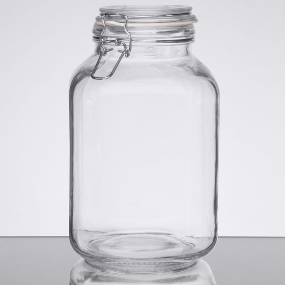 Anchor Hocking 98592CR2 106 oz. Heremes Jar - Disposables-Gradys