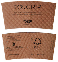 EcoGrip Hot Cup Sleeve - Disposables-Gradys