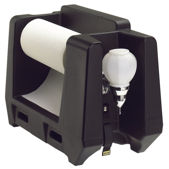 Cambro HWAPR Black Hand Washing Station - Roll Towel Dispenser - Disposables-Gradys