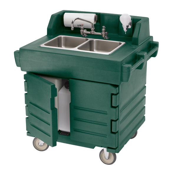 Cambro CamKiosk Portable Self-Contained Hand Sink Cart - 110V - Various Colors - Disposables-Gradys