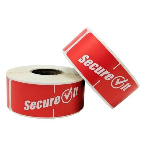 SecureIt™ Tamper Resistant To-Go Container Labels 2 Pack - 250 Per Roll - Disposables-Gradys