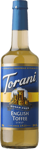 Torani Sugar Free English Toffee Syrup 750ml - Disposables-Gradys