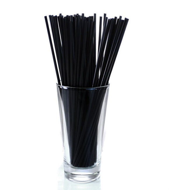 Unwrapped Black Slim Cocktail Straws - 8