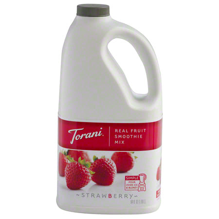Torani Real Fruit Smoothie - Strawberry 64oz - Disposables-Gradys