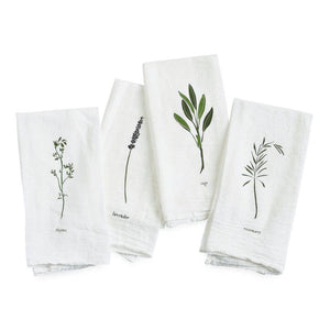 June & December - Garden Herbs Napkins, Set of 4
