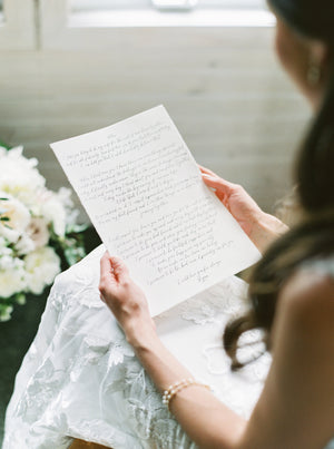 Customized Calligraphed Vows | Heirloom Keepsake