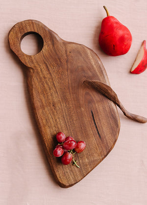 Modern Serving Board + Soft Cheese Spreader | Wild Cherry Spoon Co.