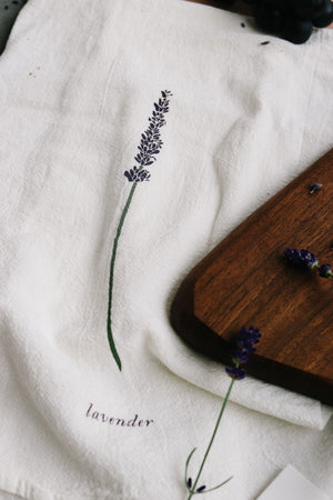 Lavender Kitchen Towel | June & December