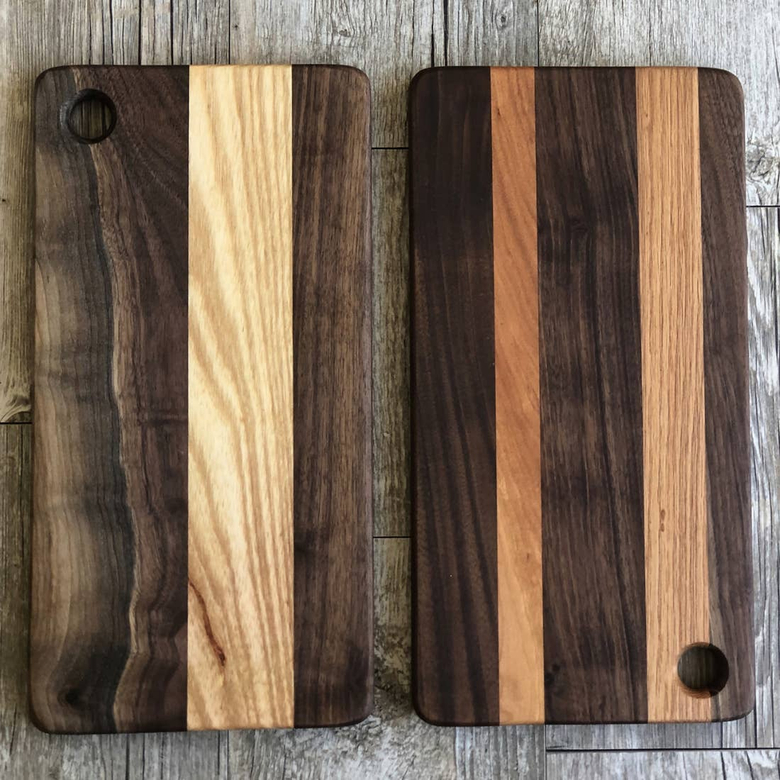 Large Stripe Cutting Board