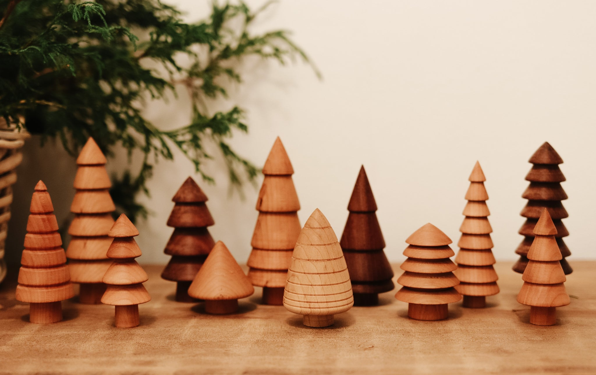 Hand-turned Miniature Christmas Trees: BATCH 2