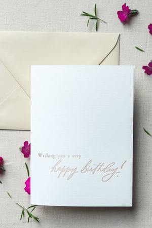 Happy Birthday | Letterpress Card