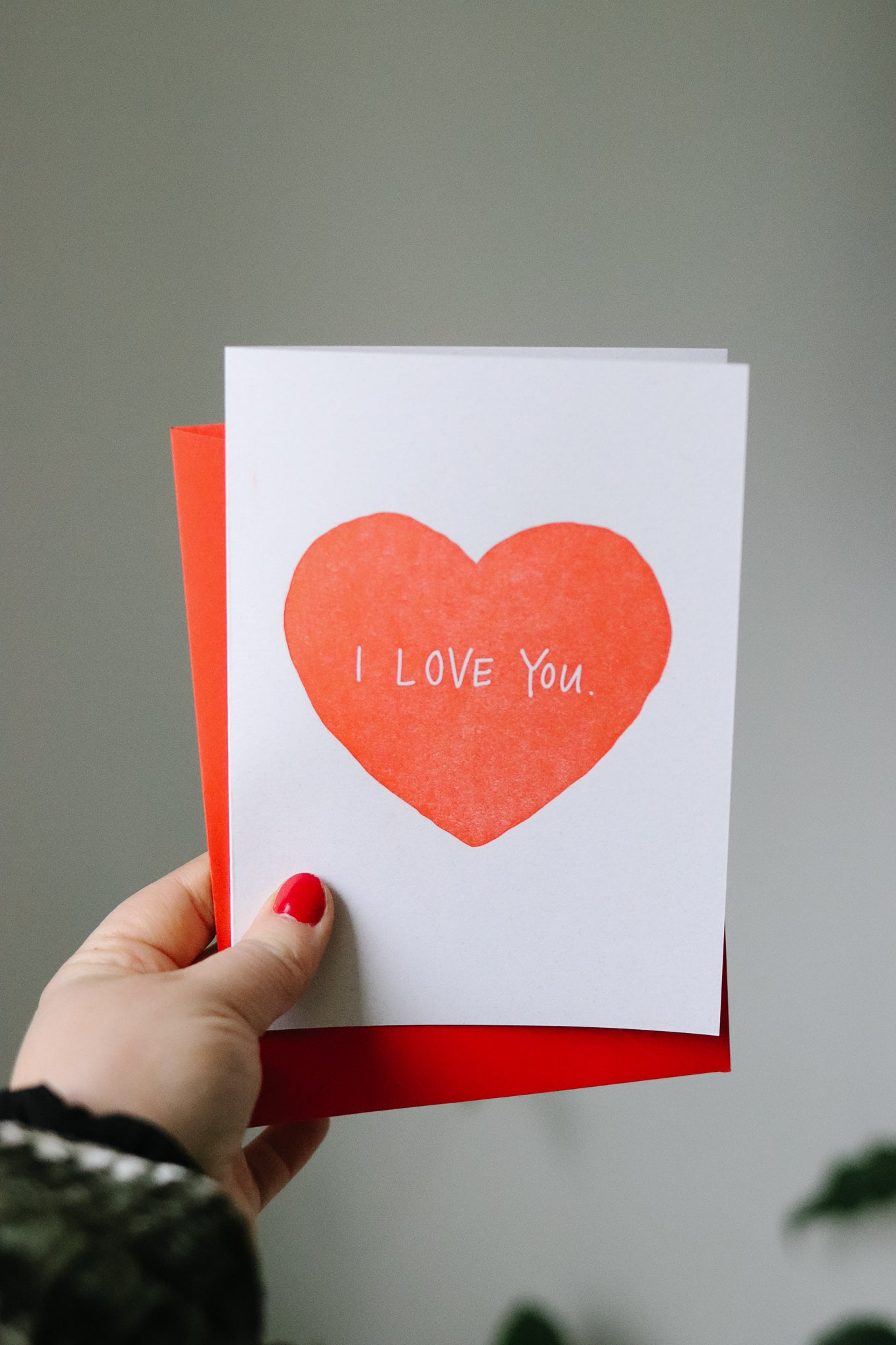 """I love you"" Letterpress Card"