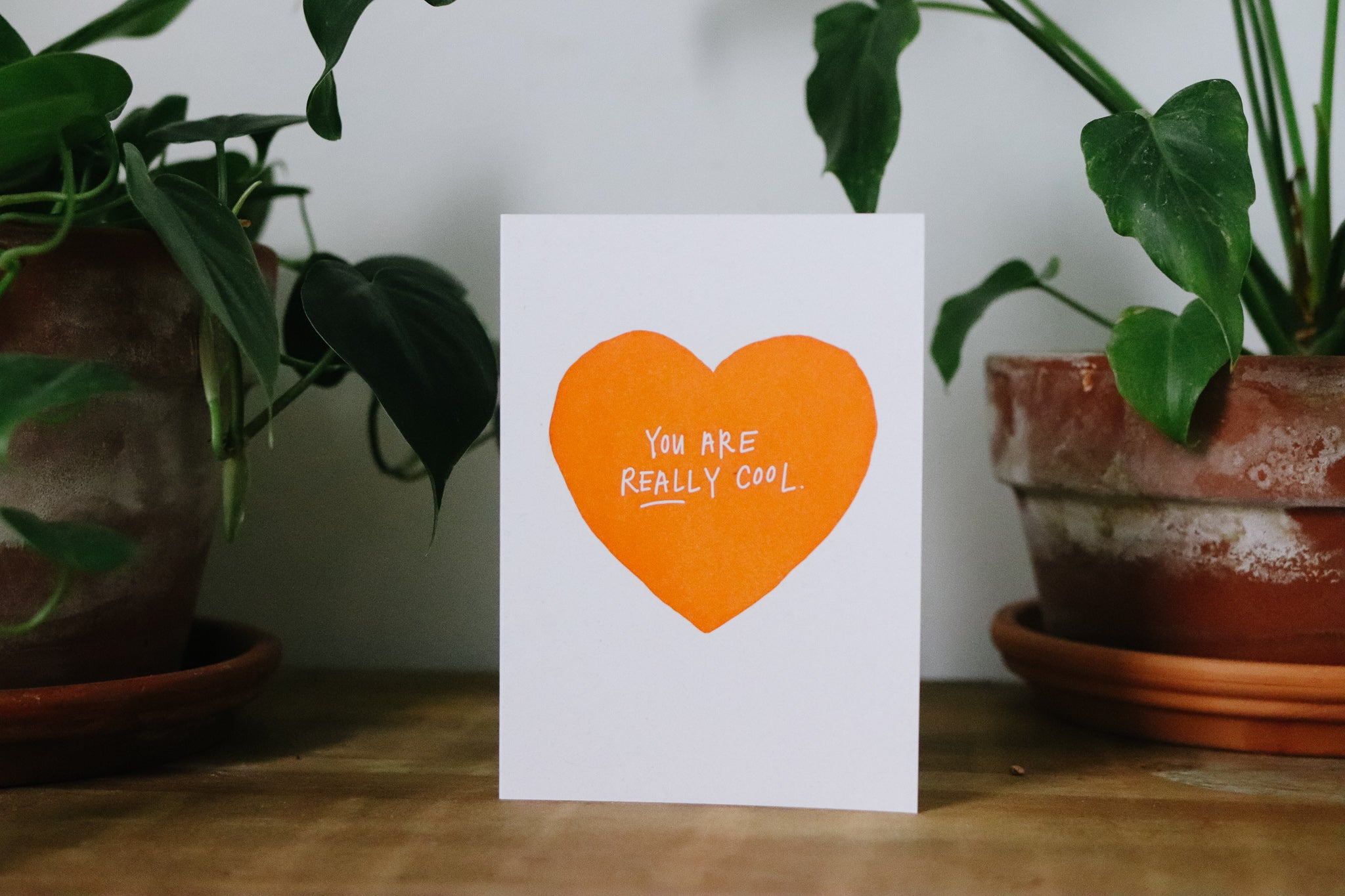 """You are really cool"" Funky Valentine Card"