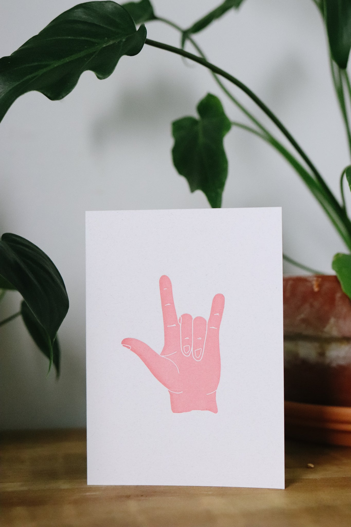 I love you in American Sign Language | Letterpress Card