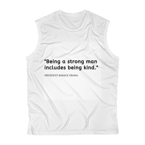 Men's Sleeveless Performance Tee - Being A Strong Man