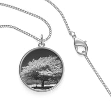Load image into Gallery viewer, Single Loop Necklace - Black & White Tree