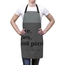 Load image into Gallery viewer, Apron - Love, Pies, & Pizza