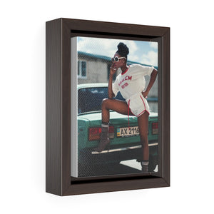 Vertical Framed Premium Gallery Wrap Canvas - Black Girl Magic