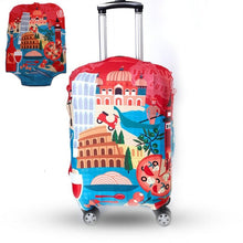 Load image into Gallery viewer, TRIPNUO Thicker Blue City Luggage Cover Travel Suitcase Protective Cover for Trunk Case Apply to 19''-32'' Suitcase Cover