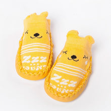 Load image into Gallery viewer, 0-1-3 Years Old Spring Autumn Winter Infant Funny Socks Baby Socks Non-slip Floor Socks Leather Sole Cartoon Cotton Baby Socks