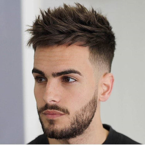 Spikey low fade haircut