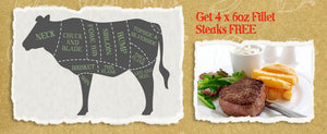 Grab 4 x 6oz British Beef Fillet Steaks FREE!