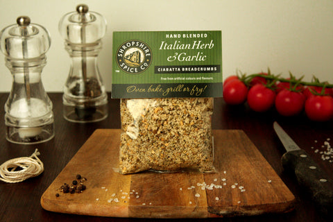 Italian Herb & Garlic Ciabatta Breadcrumbs