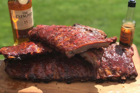 barbecued pork belly ribs