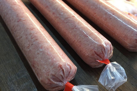 sleeves of sausage meat