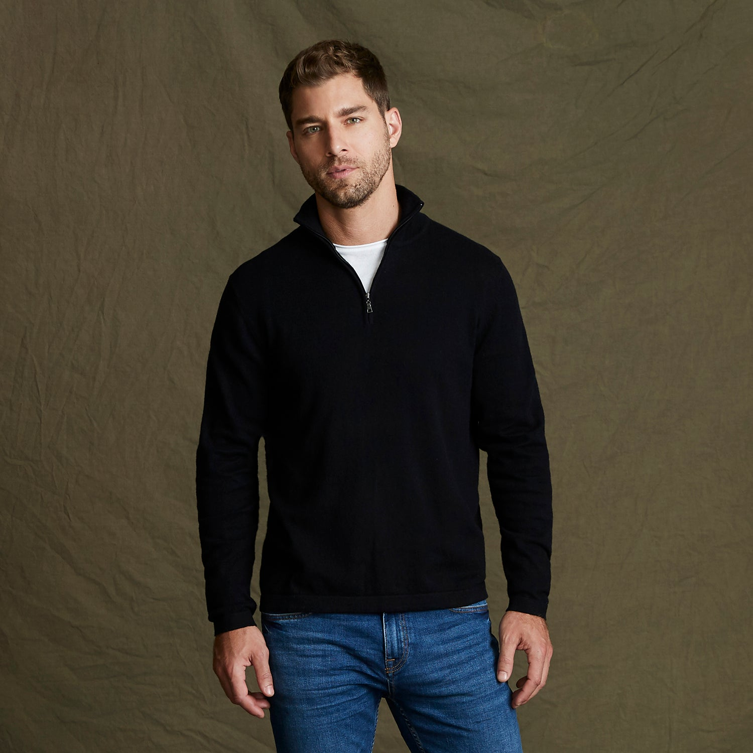 151391 - Weatherproof® Vintage Cotton Cashmere 1/4 Zip Sweater