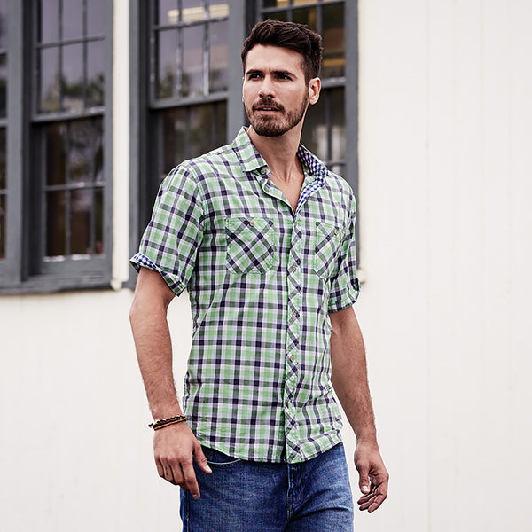 Weatherproof® Vintage Plaid Short Sleeve Shirt