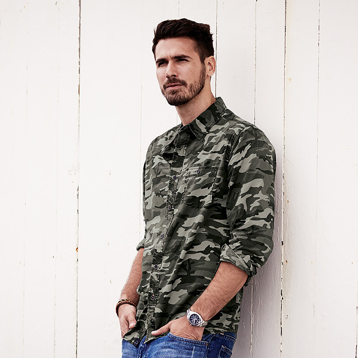 154622 - Weatherproof® Vintage Camo Long Sleeve Shirt