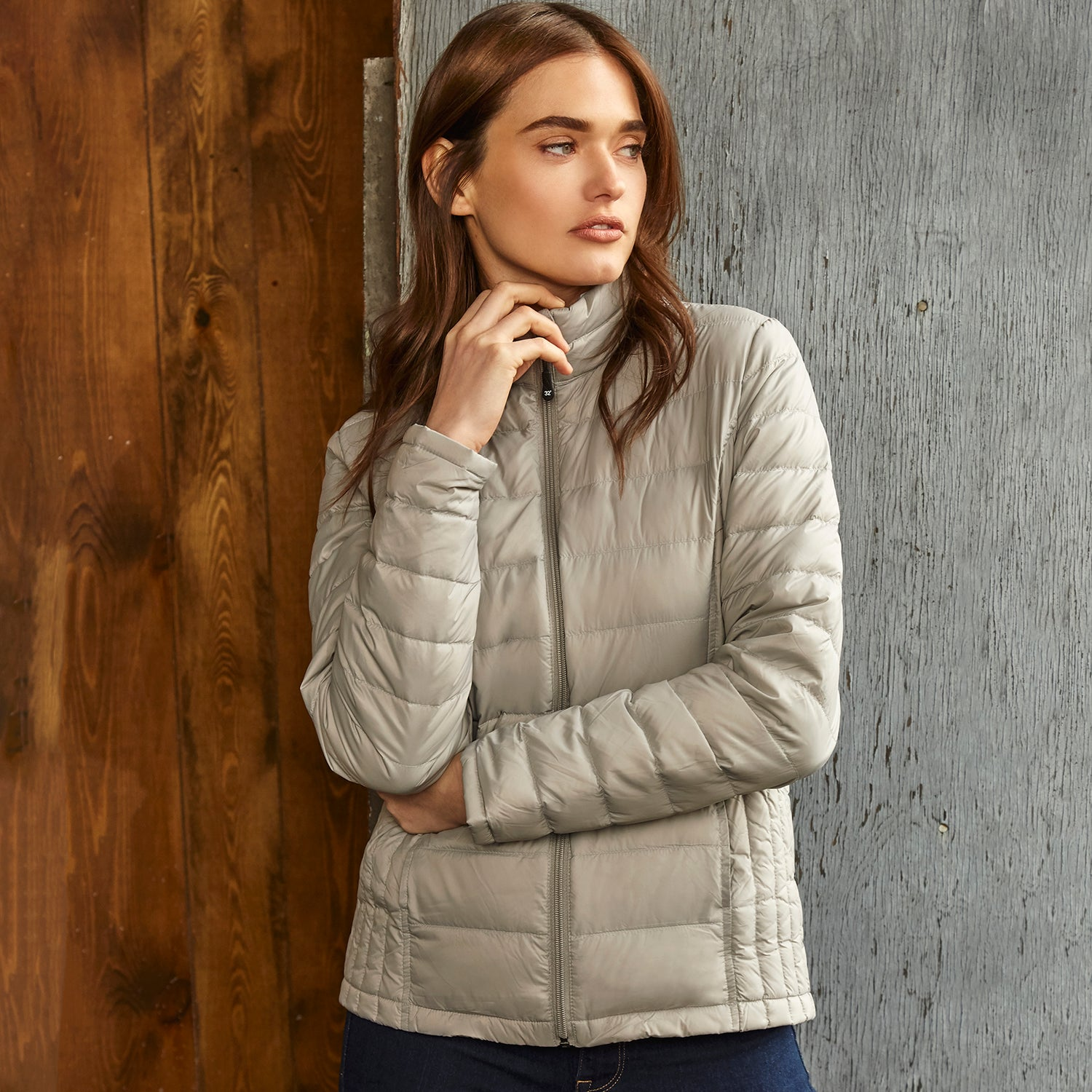 15600W - Weatherproof® Ladies Packable Down Sweater