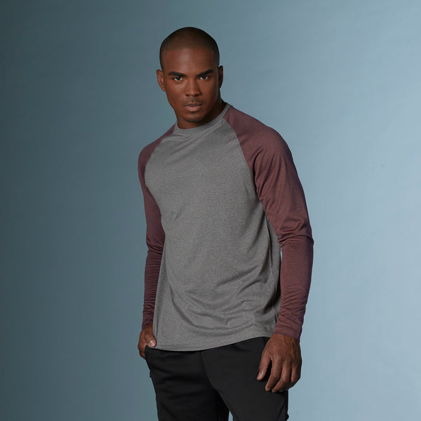 Heather Athletic Long Sleeve Tee