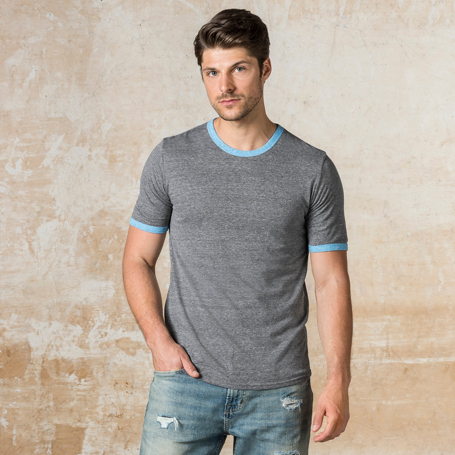 20480 - All American Triblend Ringer Tee