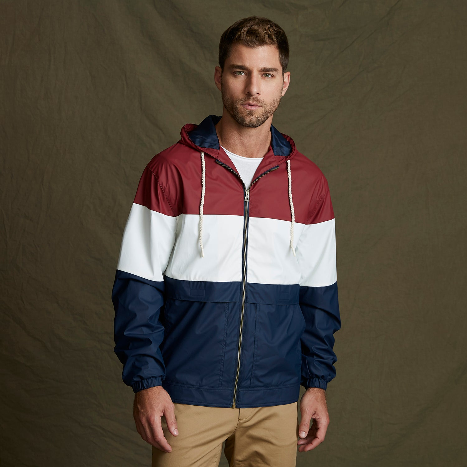 20601 - Weatherproof Vintage Colorblock Rain Jacket