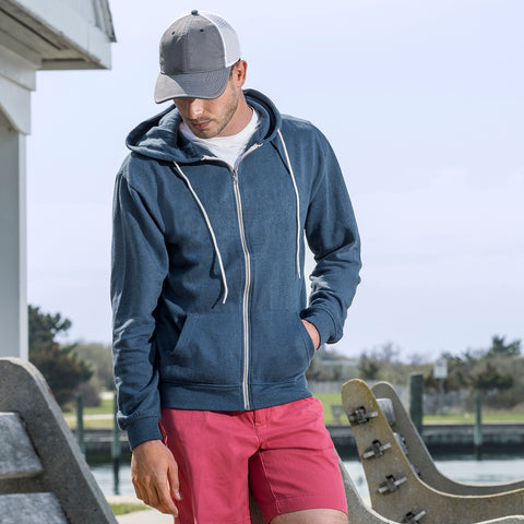 2349 - Retro Heather Zip Hood