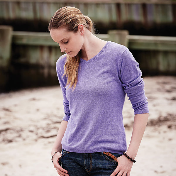 Weatherproof® Vintage Ladies' Cotton Cashmere V-Neck Sweater