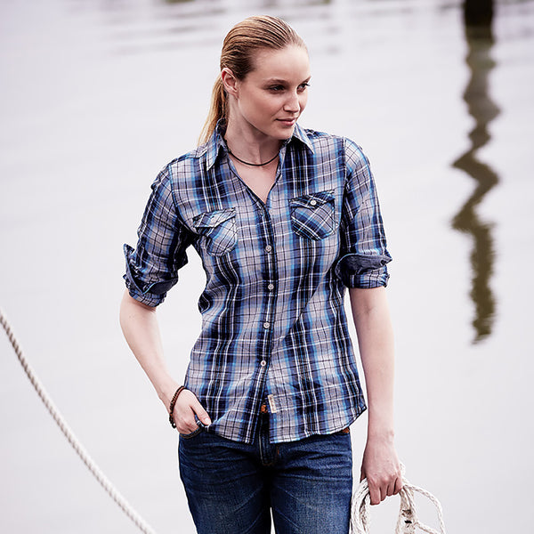 Weatherproof® Vintage Ladies' Plaid Long Sleeve Shirt