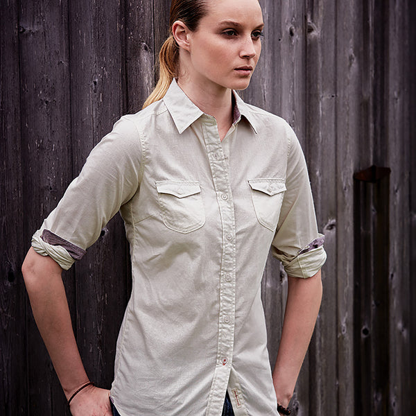 Weatherproof® Vintage Ladies' Chambray Long Sleeve Shirt