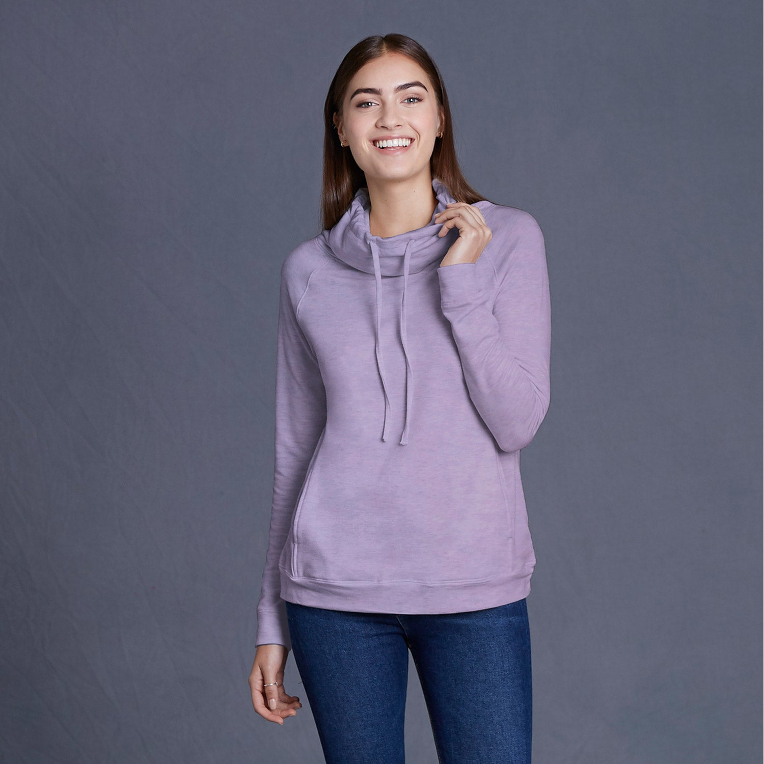 W18706 - Heatlast Ladies Faux Cashmere Funnel Neck