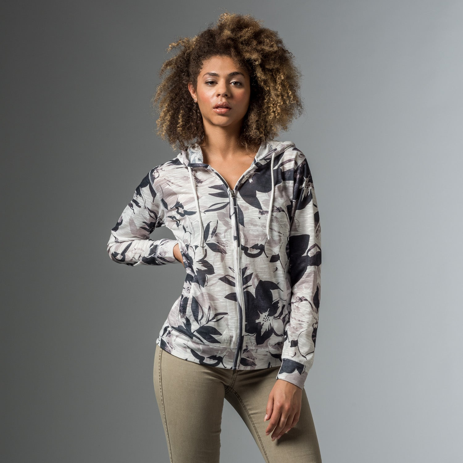 W19441 - Heidi Printed Full Zip