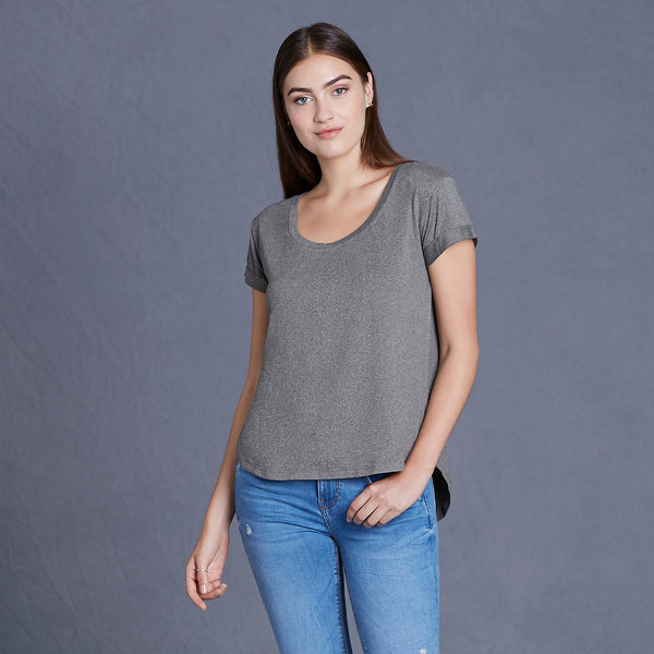 CoolLast Ladies Heather Lux Dolman Tee