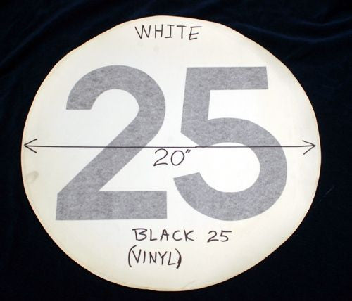 "#DE4 - No.25 satin white Gumball, 20"" Round (e)."