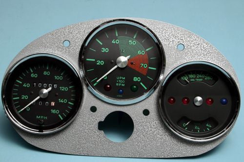 #GA0 -   Original VDO, re-manufactured 550 Spyder Style Gauge Set with Free Gauge Panel
